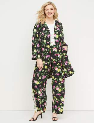 Lane Bryant Floral Crepe Duster