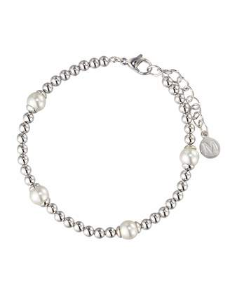 Majorica Blake Beaded Pearl Station Bracelet, White $65 thestylecure.com