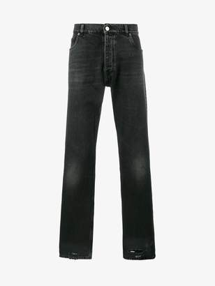 Balenciaga Bal Destroyed Hem 5 Pocket Jeans