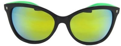 Women's Kate Sunglasses - Black/Green