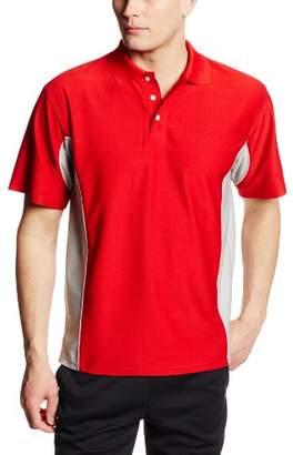 MJ Soffe Men's Texture Polo Shirt, Black/Gold