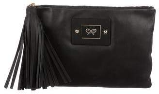 Anya Hindmarch Leather Tassel Clutch