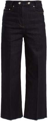 RED Valentino High-rise wide-leg cropped jeans