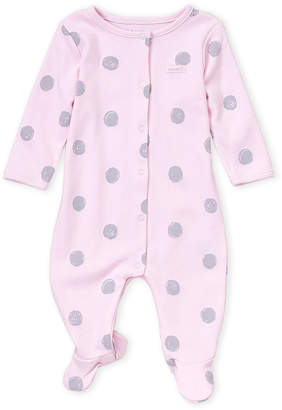 Absorba Newborn Girls) Pink Dot Footie