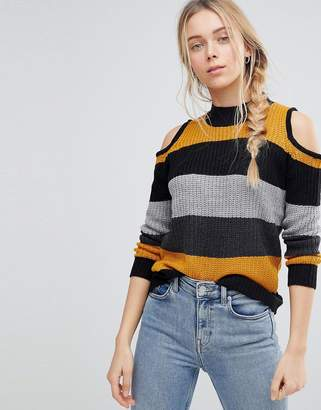 QED London Sweater With Cold Shoulder Detail