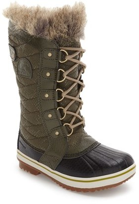 Girl's Sorel Tofino Faux Fur Lined Waterproof Boot $100 thestylecure.com