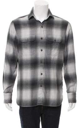 Tom Ford Shadow Plaid Button-Up Shirt