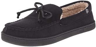 Isotoner Men's Microsuede Moccasin with Sherpa Lining