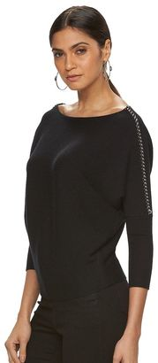Women's Jennifer Lopez Chain Dolman Top $64 thestylecure.com