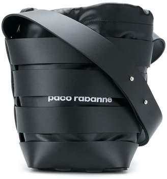 Paco Rabanne woven detail bucket bag