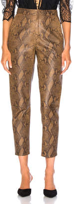 Zeynep Arcay for FWRD High Waist Skin Print Leather Pants