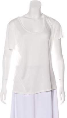 The Row Short Sleeve Scoop Neck T-Shirt