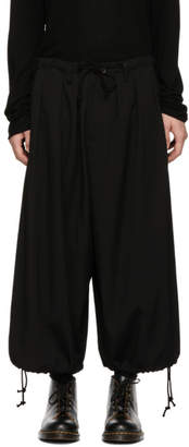 Yohji Yamamoto Black Wool Basic Balloon Trousers