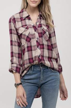 Blu Pepper Bf Plaid Top
