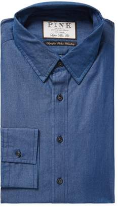 Thomas Pink Men's Caldicot Solid Super Slim Fit Dress Shirt