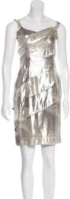Fendi Silk Metallic Dress