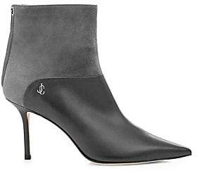 Jimmy Choo Women's Beyla Suede & Leather Point-Toe Booties