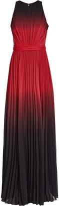 Reiss Hawk - Ombre Pleated Maxi Dress in Red/Garnet