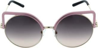 Matthew Williamson Square Frame Round Sunglasses