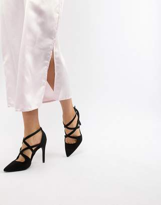 New Look Wide Fit Pointed Strappy Court