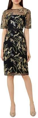 Hobbs London Phoebe Embroidered Illusion Dress