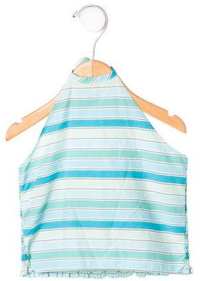 Rachel Riley Girls' Striped Halter Top