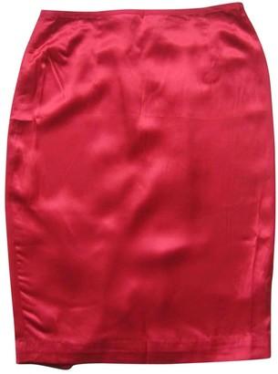 Les Petites Red Silk Skirt for Women