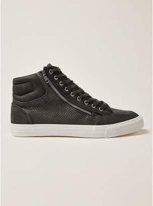 Topman Mens Grey Gray Wheeler Hi Top Sneakers