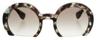 Miu Miu Oversize Half-Rim Sunglasses w/ Tags