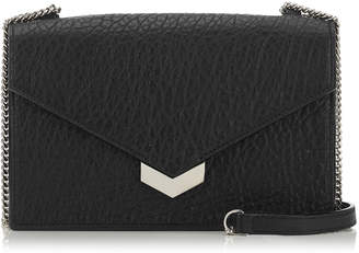 Jimmy Choo LEILA Black Grainy Leather Mini Cross Body Bag