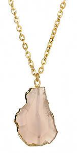 Mali Sabatasso Rose Quartz Necklace