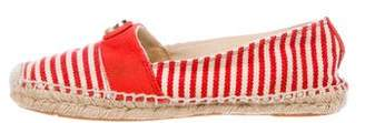 Tory Burch Striped Espadrille Flats