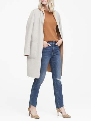 Banana Republic Petite Skinny Zero Gravity Ankle Jean with Asymmetrical Fray Hem