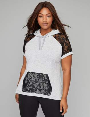 French Terry & Lace Active Hoodie