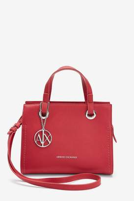 Armani Exchange Womens Red Logo Tote Bag - Red
