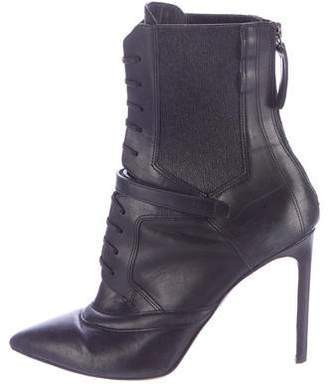 Hugo Boss Leather Lace-Up Ankle Boots $330 thestylecure.com