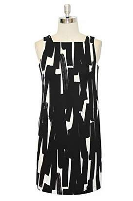 London Times Women's Sleeveless Square Neck Shift Dress