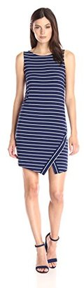 Kensie Women's Light Weight Viscose Spandex Stripe Dress with Slit $69 thestylecure.com