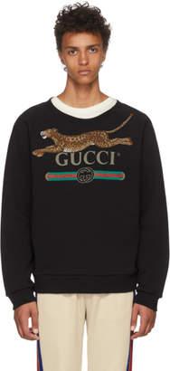 Gucci Black Classic Leopard Sweatshirt