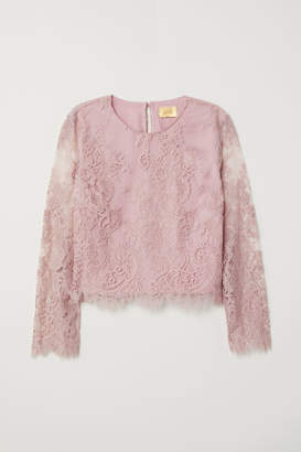 H&M Lace Blouse - Pink