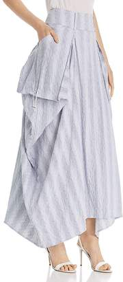 SNIDER Rhone Ruched Maxi Skirt