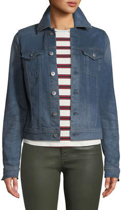AG Jeans Robyn Button-Front Denim Trucker Jacket