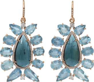 Irene Neuwirth JEWELRY Indicolite Tourmaline Earrings