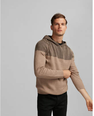 Express ribbed hooded sweater