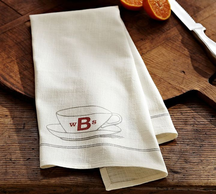 Pottery Barn Teacup Kitchen Towel