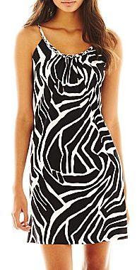 JCPenney Chain-Detail Print Dress - Petite