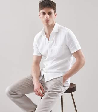 Reiss Dodd Short Sleeved Linen Shirt
