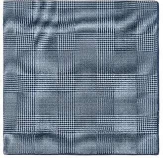 Cifonelli Men's Prince Of Wales Checked Silk Twill Pocket Square
