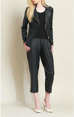 Clara Sunwoo Liquid leather zip jacket