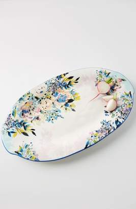 Anthropologie Gardenshire Earthenware Platter